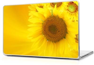 Global Sunflowers-wide Vinyl Laptop Decal 17