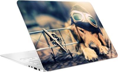 AV Styles Dog With Toy Plane By Av Styles Vinyl Laptop Decal 15.6