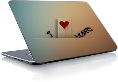 Devendra Graphics Love Music Type 3 Vinyl Laptop Decal 15.6