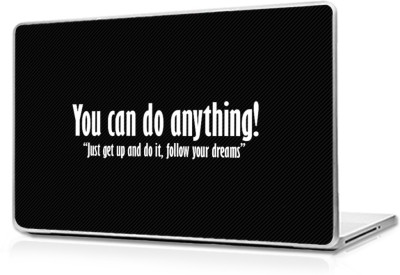 Global Motivational Quote Of You Can Do Anything Vinyl Laptop Decal