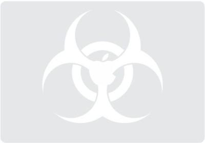 Engrave Biohazard Vinyl Laptop Decal 13