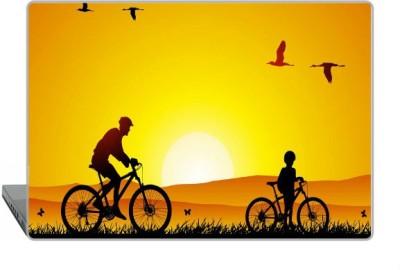Digitek World Skin of Bike Sunrise Pass Away High Quality 3M Vinyl Laptop Decal