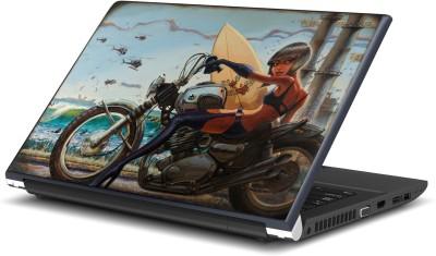 Artifa Girl On Bike Artistic Vinyl Laptop Decal 15.6