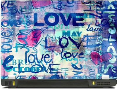Skinkart Graffiti Love Vinyl Laptop Decal 12.1