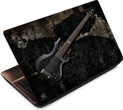 FineArts Guitar on Vintage Wall Vinyl Laptop Decal 15.6