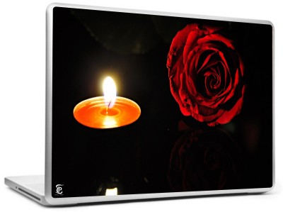 Print Shapes Red rose with candel Vinyl Laptop Decal
