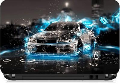 Print Shapes Nissan Blue Car Vinyl Laptop Decal 15.6