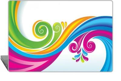 Digitek World Skin of Line Paint Curls High Quality 3M Vinyl Laptop Decal 15.6