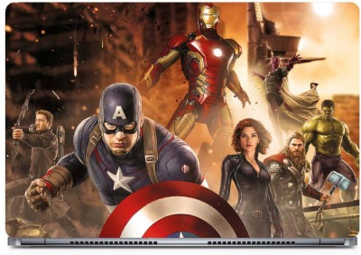 Marvel Avengers team Vinyl Laptop Decal
