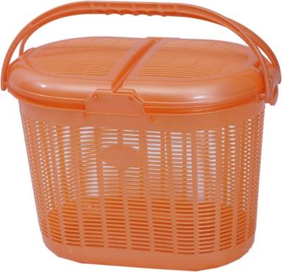 Inside Designs 15 L Orange Laundry Basket