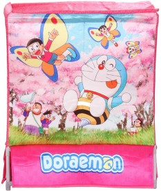 Doraemon 20 L Pink Laundry Basket, Laundry Bag