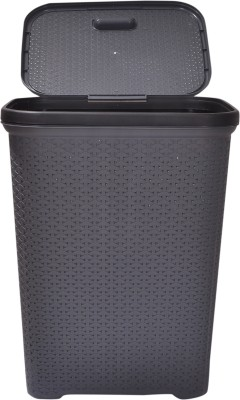 POLYSET More than 20 L Grey, Black Laundry Basket at flipkart