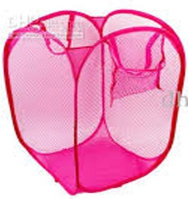 Shree Balaji Home 4 L Pink Laundry Basket