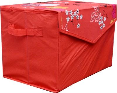 AZAAN DECOR 10 L Red Laundry Basket