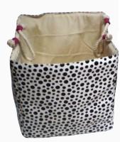 Creative Textiles 20 L Black, White Laundry Basket(PU)