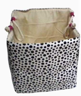 Creative Textiles 20 L Black, White Laundry Basket