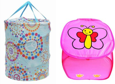 Jain Trading Company More than 20 L Multicolor Laundry Basket