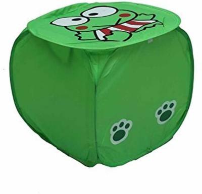 Amita Home Furnishing 20 L Green Laundry Basket
