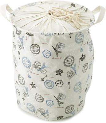 Chrome White, Blue Laundry Bag