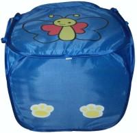 Amita Home Furnishing 20 L Blue Laundry Basket(Fabric)