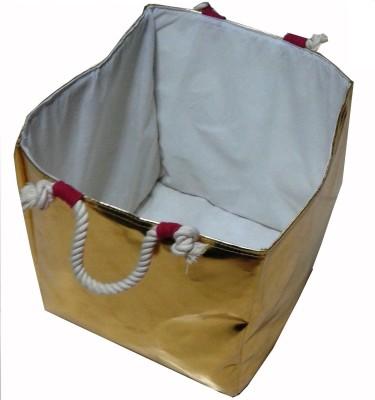 Creative Textiles 20 L Gold Laundry Basket
