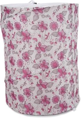 Chrome Pink, White Laundry Bag