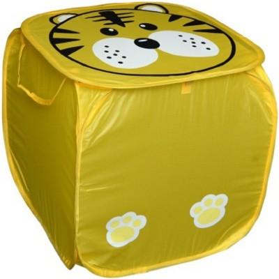 Amita Home Furnishing 20 L Yellow Laundry Basket