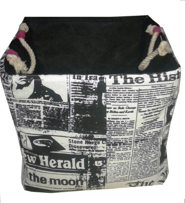 Creative Textiles 20 L Black, White Laundry Basket