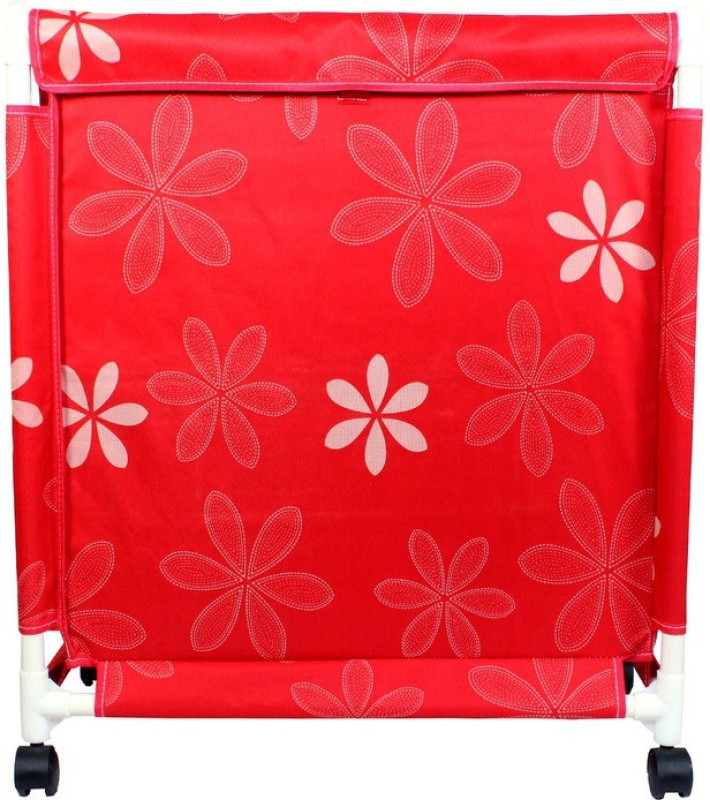 Pack N Buy LAU2_RED Laundry Trolley(Red)