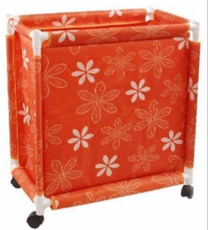 Pack N Buy LAU2_TROLLEY Laundry Trolley(Orange)