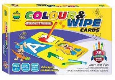 Applefun Colour & Wipe Cards Alphabets and Numbers