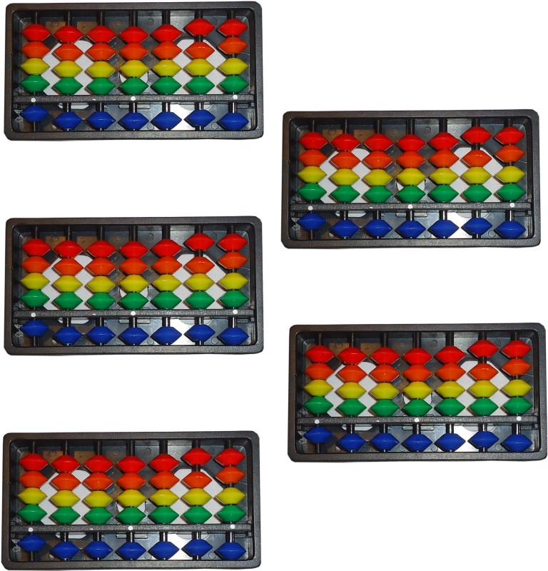 Sae Fashions MULTICOLOR 7 ROD ABACUS KIT SET OF 5(Multicolor)