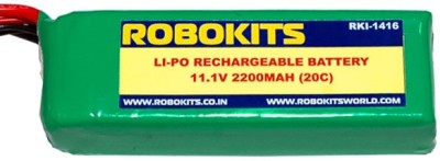 Robokits Lithium Polymer ( Li-Po) Rechargeable Battery 11.1v 2200mah 20c
