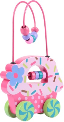 Stephen Joseph Inc Rolling Wire and Bead Toy - Cupcake