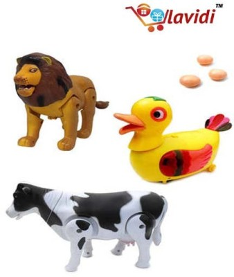Lavidi Combo of three High Quality Animal Toys for Kids