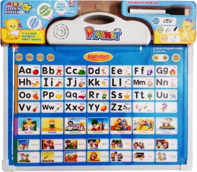 Vaibhav ABC Front learning, Back Drawing, Super Special Functions Battery Operated Educational musical play mat(Multicolor)