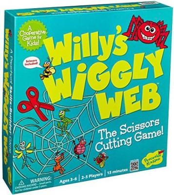 Peaceable Kingdom Willy's Wiggly Web Award Winning Preschool Skills Builder Game