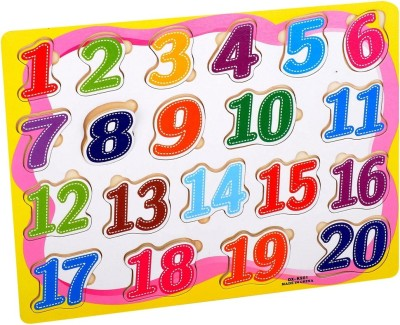 Priya Exports 20 Numbers Wooden Puzzle