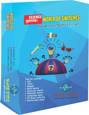 WAVEKIDS World of Swtiches - Set of 3 Experiments Do it yourself kit