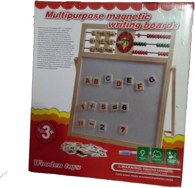 Aryas Multi-Purpose 2 in 1 Magnetic Slate Educational Board with Alphabets & Numbers