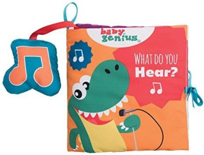Baby Genius What Do You Hear Soft Activity Book with Sound for Infants by Manhattan Toy