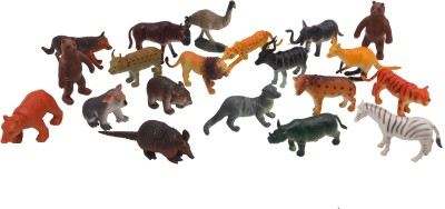 Babytintin wild animals (20 piece) with realistic features and looks