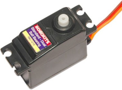 Robokits Standard Dual Ball Bearing Servo(Black)