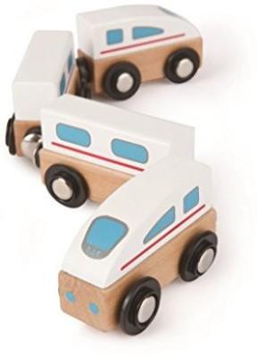 Hape Hape - Qubes - Wooden Magnetic Bullet Train Set(Multicolor)