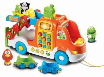 VTech Pull and Learn Car Carrier Pull Toy