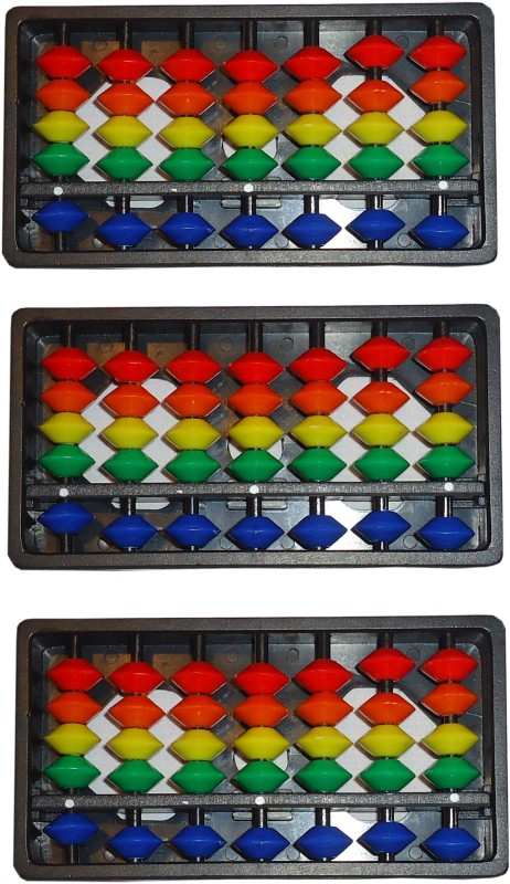 Sae Fashions Multicolor 7 Rod Abacus Kit Set Of 3(Multicolor)