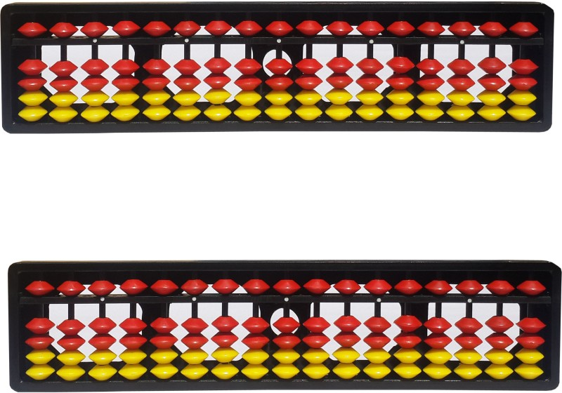 Sae Fashions 17 ROD YELLOW AND RED ABACUS KIT SET OF 2(Multicolor)