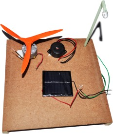 ProjectsforSchool Solar Panel Kit 3 in 1 - DIY Kit for Science Project(Multicolor)