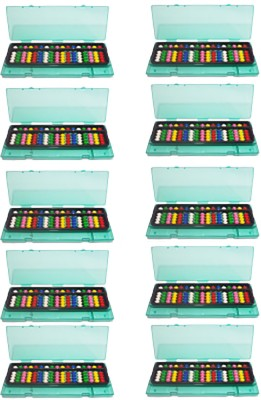 SAE FASHIONS Multicolor 17 Rod Abacus Kit With Box Set Of 10