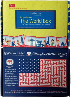 Traveller Kids Atlas Goes to the U.S.A Combo
